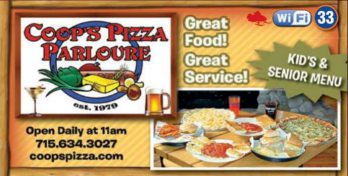 Coop's Pizza Parloure on the Chippewa Flowage