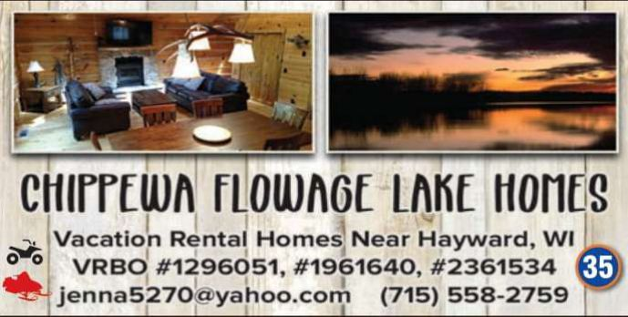 Winter Lodging Chippewa Flowage Lake House 1