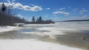 Lake Chippewa Flowage Spring Ice Break up 2019