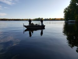 Fall fishing on the Flowage