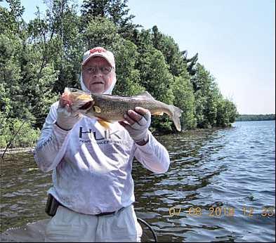 July Walleye Fishing