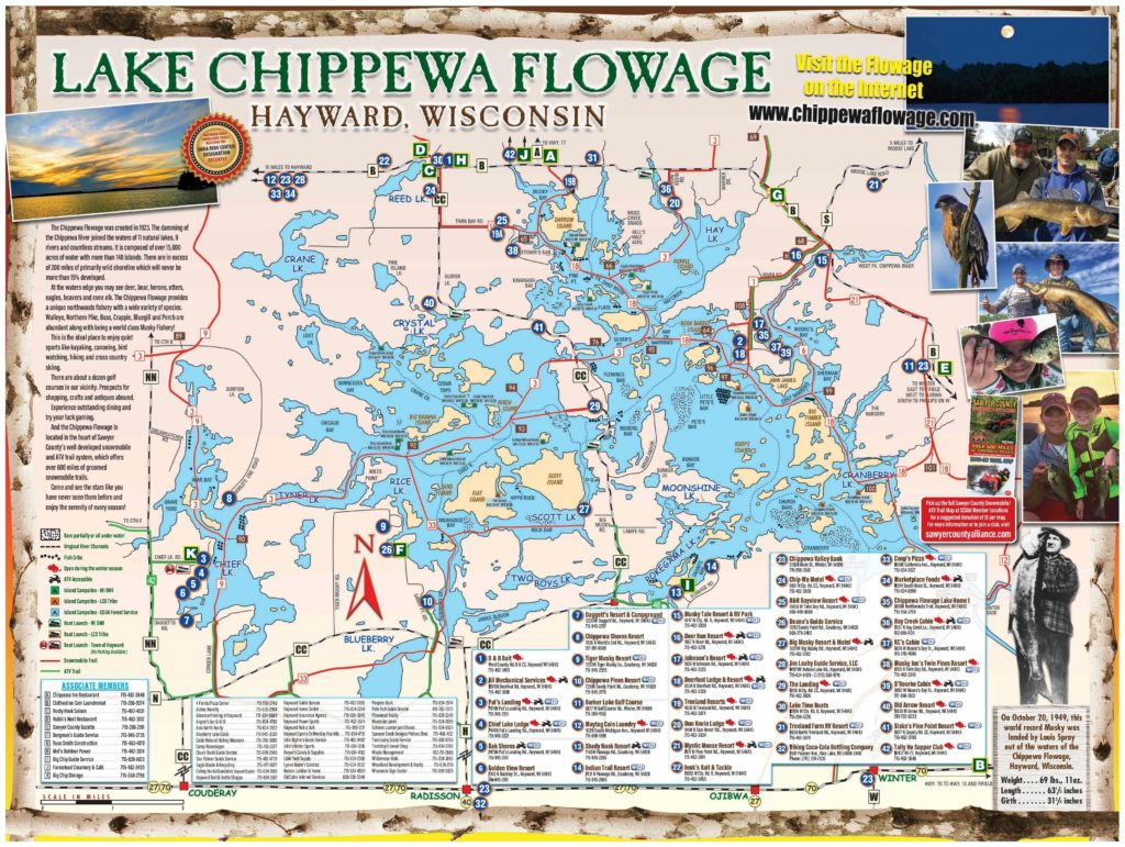 Chippewa Flowage Lake Map