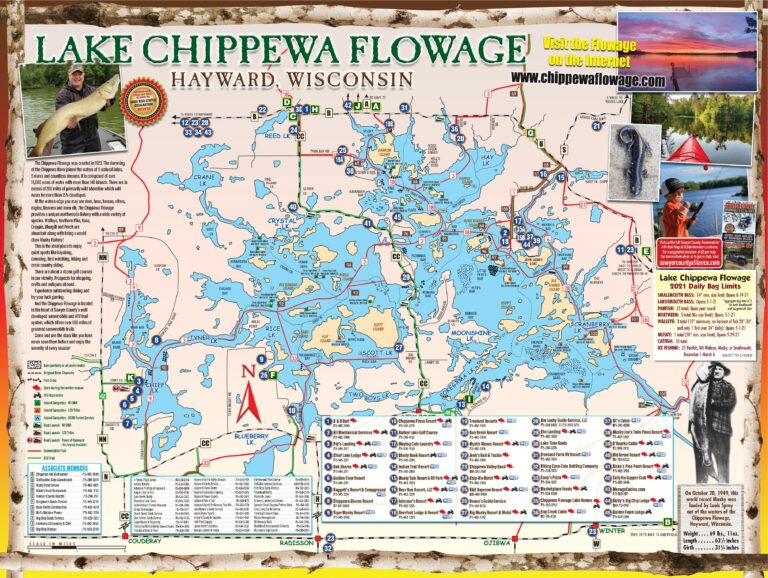 Lake Chippewa Flowage Map