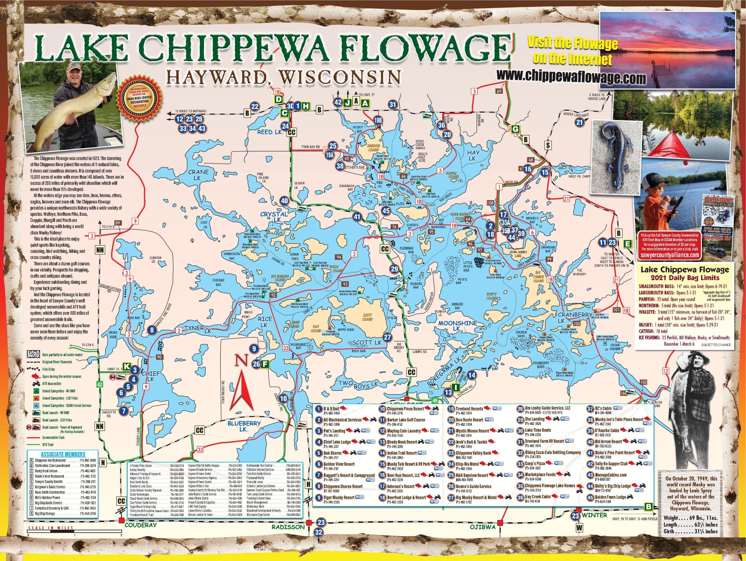 Lake Chippewa Flowage Map