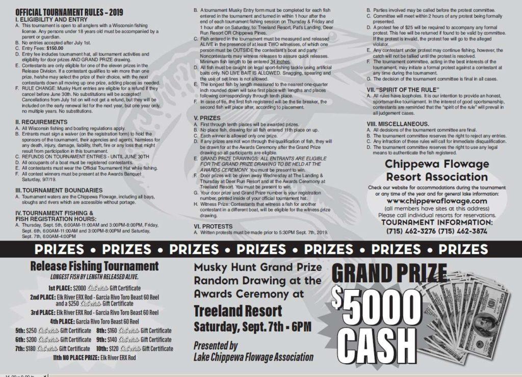 Musky Hunt Fishing Contest Brochure